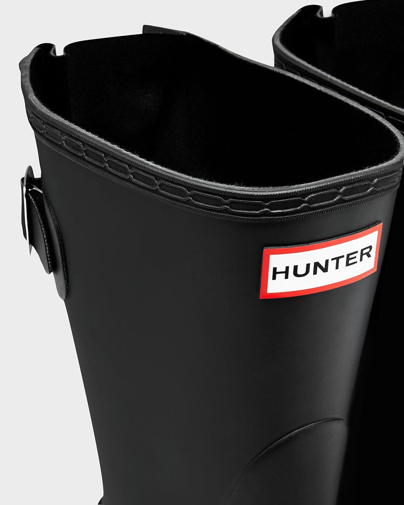 Hunter Footwear UK 4 / EU 37 / US 6 / BLACK Women's Original Short Back Adjustable Wellington Boots Black