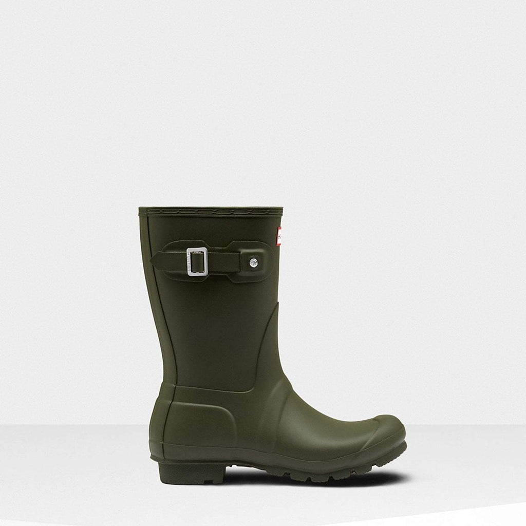 Hunter Footwear UK 3 / EU 35-36 / US 5 / Dark Olive Women's Original Short Wellington Boots Dark Olive