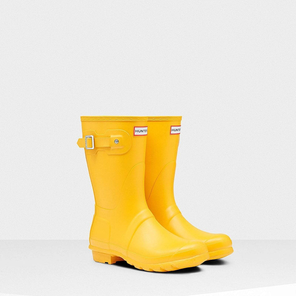 Hunter Footwear UK 4 / EU 37 / US 6 / YELLOW Women's Original Short Wellington Boots Yellow
