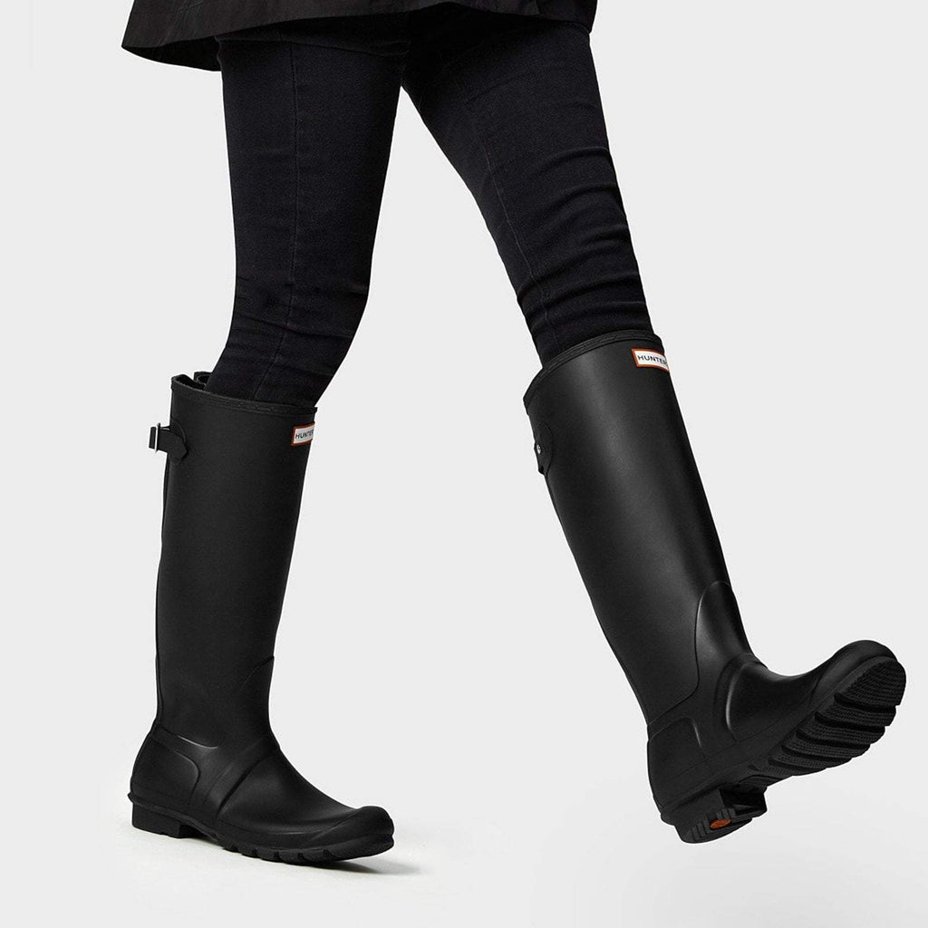 Hunter Footwear UK 4 / EU 37 / US 6 / Black Women's Original Tall Back Adjustable Wellington Boots Black