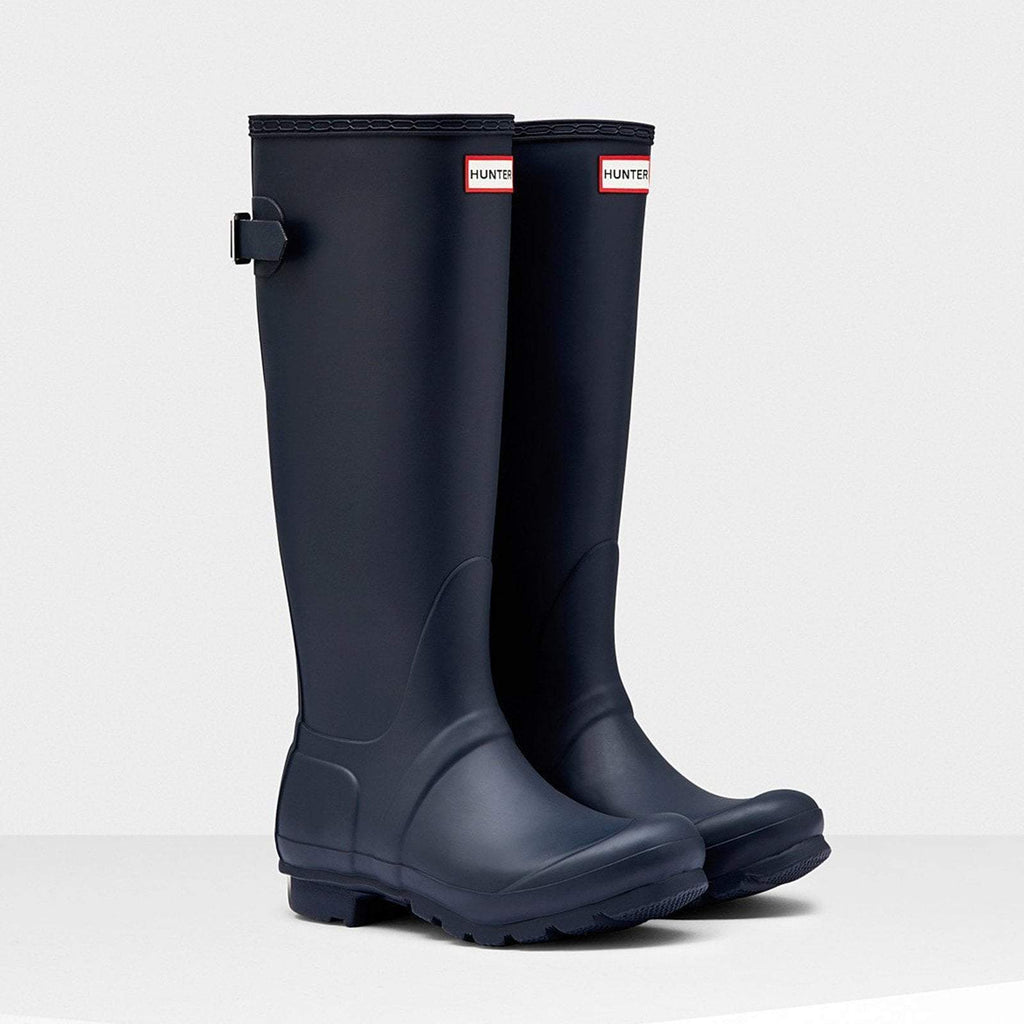 Hunter Footwear UK 4 / EU 37 / US 6 / Navy Women's Original Tall Back Adjustable Wellington Boots Navy