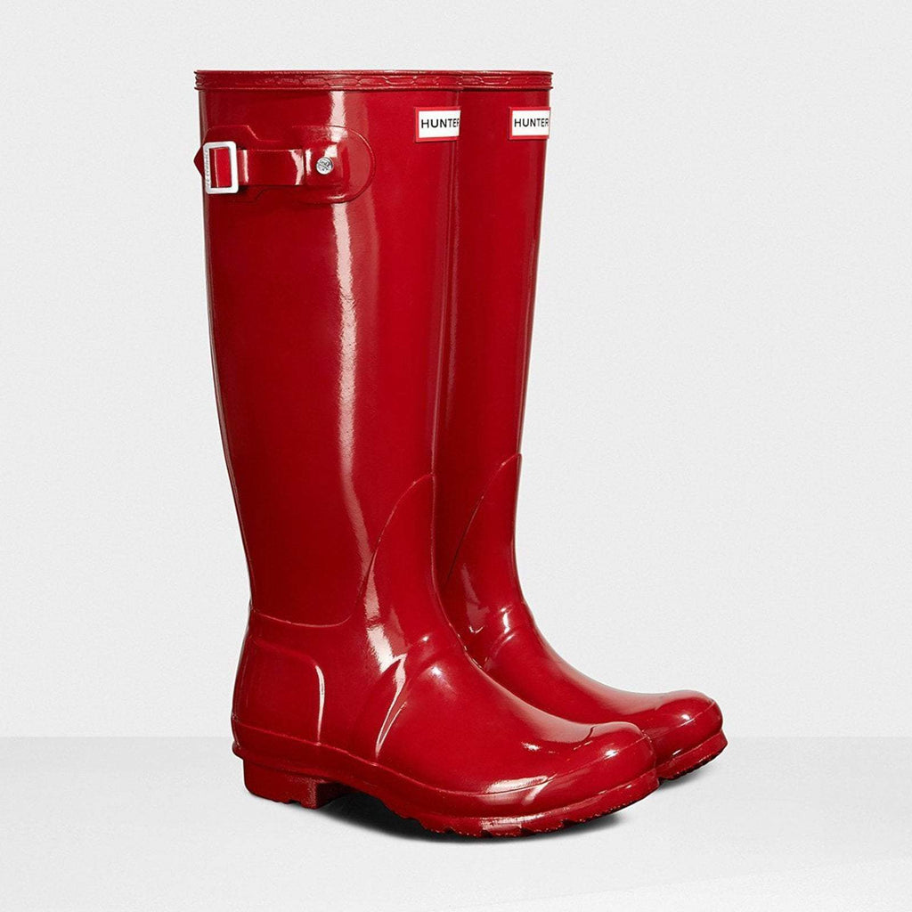 Hunter Footwear UK 4 / EU 37 / US 6 / Military Red Women's Original Tall Gloss Wellington Boots Military Red