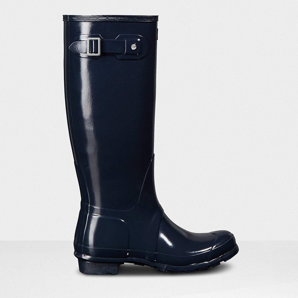 Hunter Footwear UK 4 / EU 37 / US 6 / Navy Women's Original Tall Gloss Wellington Boots Navy