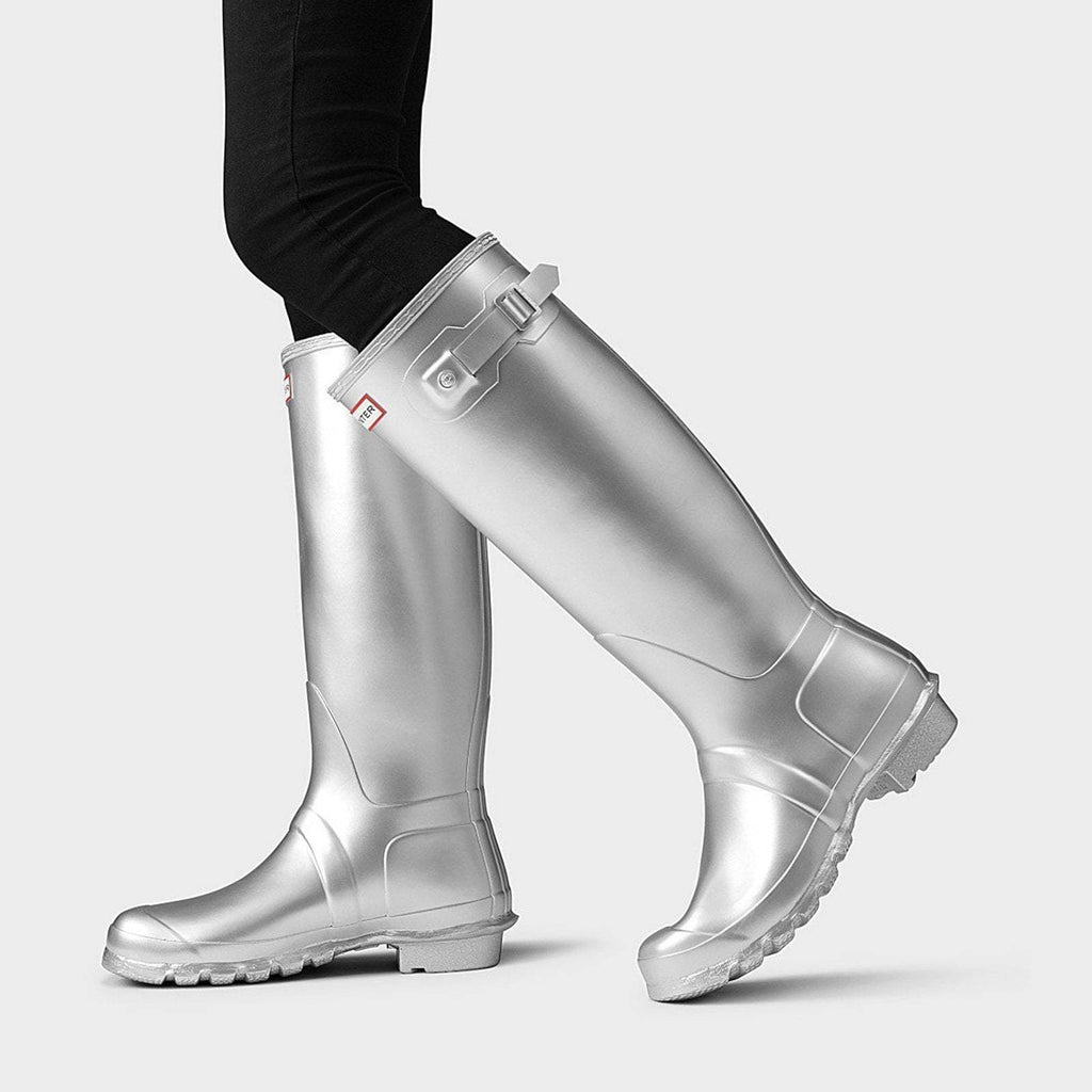 Hunter Footwear UK 4 / EU 37 / US 6 / Silver Women's Original Tall Wellington Boots Silver