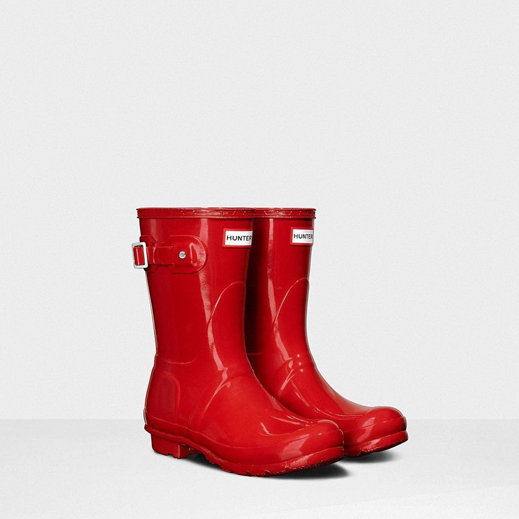 Hunter Welly UK 4 / EU 37 / US 6 / Military Red Women's Original Short Gloss Wellington Boots Military Red