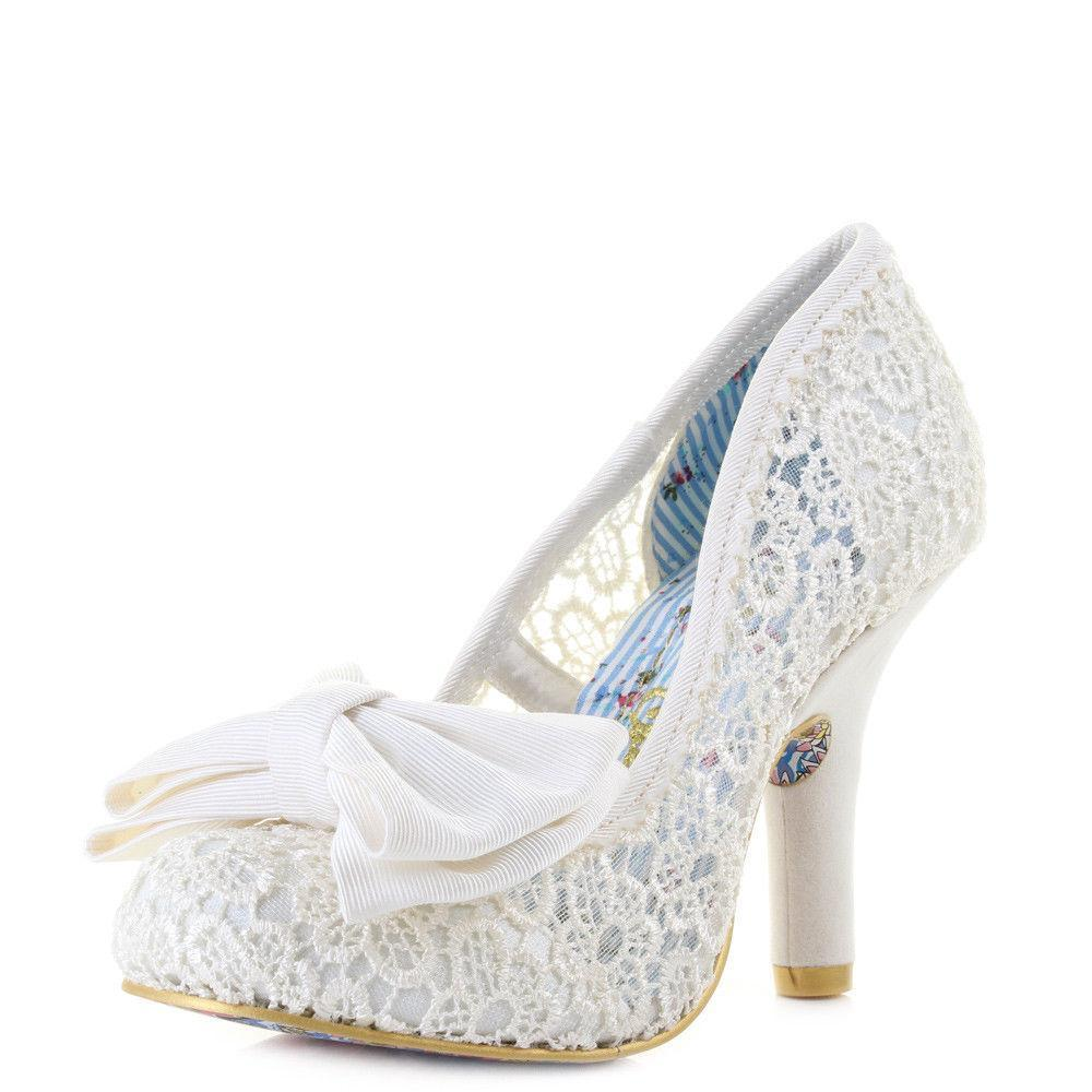Irregular Choice Footwear UK 6 / EU 39 / US 8 / Cream Mal E Bow - Cream