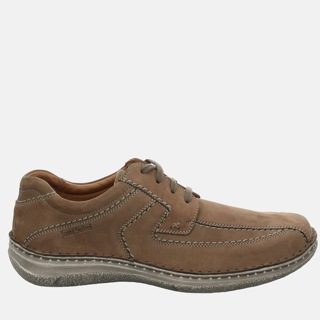 Josef Seibel Footwear UK 6 / EU 39 / US 7 / Brown Anvers 08 Taupe - Josef Seibel Brown Leather  Casual Shoes