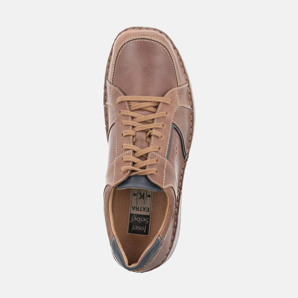 Josef Seibel Footwear UK 6 / EU 39 / US 7 / Tan Anvers 59 Castagne Kombi - Josef Seibel Brown Tan Leather  Casual Shoes