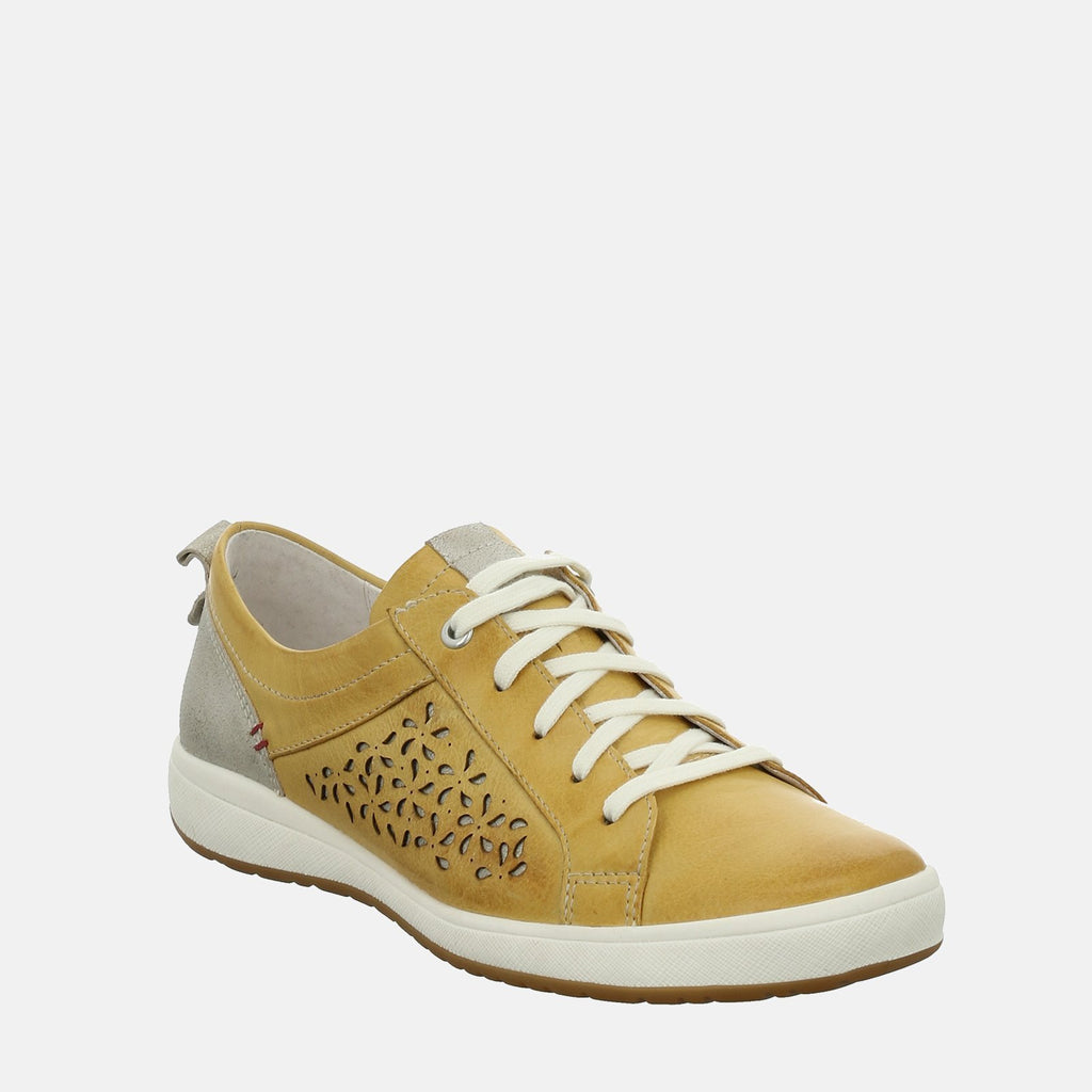 Josef Seibel Footwear UK 3 / EU 36 / US 5 / Yellow Caren 06 Gelb Kombi - Josef Seibel White Ladies Trainers