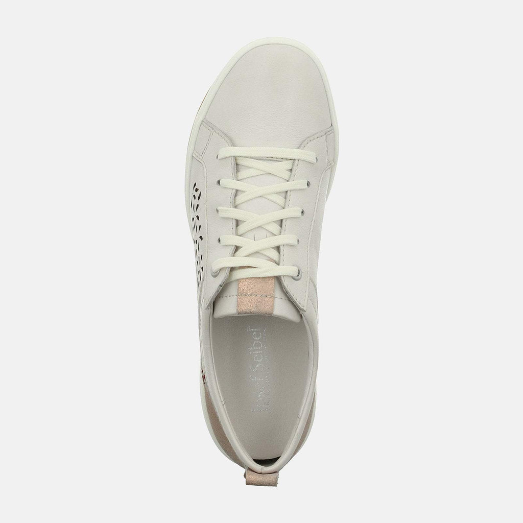 Josef Seibel Footwear UK 3 / EU 36 / US 5 / White Caren 06 Weiss Kombi - Josef Seibel White Ladies Trainers