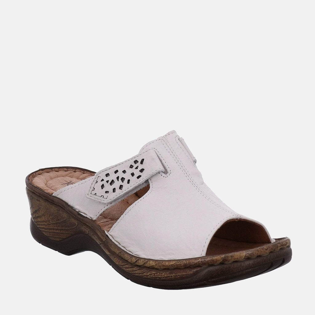 Josef Seibel Footwear UK 3 / EU 36 / US 5 / White Catalonia 32 Weiss - Josef Seibel White Ladies Sandal Mule