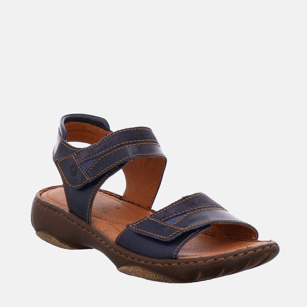 Josef Seibel Footwear UK 3 / EU 36 / US 5 / Navy Blue Debra 19 Denim Kombi - Josef Seibel Navy Blue Velcro Ladies Sandal