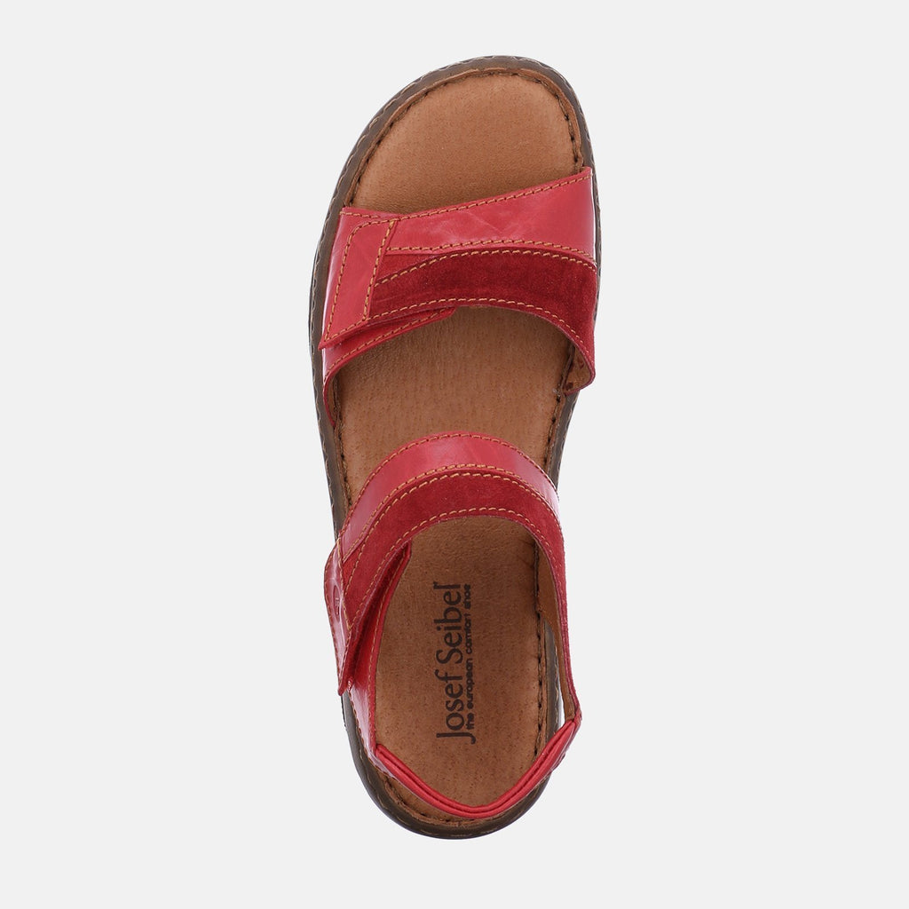 Josef Seibel Footwear UK 3 / EU 36 / US 5 / Red Debra 19 Rot Kombi - Josef Seibel Red Velcro Ladies Sandal