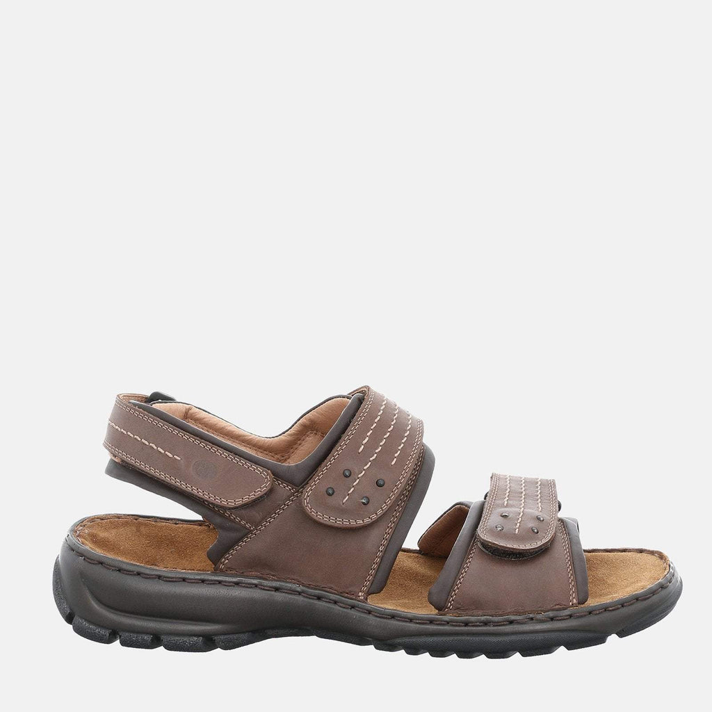 Josef Seibel Footwear UK 6 / EU 39 / US 7 / Brown Firenze 01 Moro - Josef Seibel Brown Tan Leather Walking Sandals