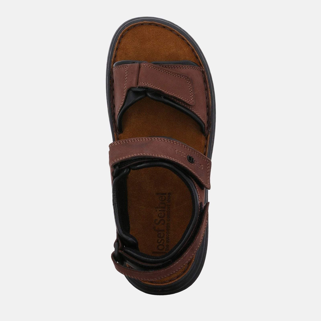 Josef Seibel Footwear UK 6 / EU 39 / US 7 / Brown Josef Seibel Rafe Brasil/Schwarz  Brown Tan Leather Velcro Sandal