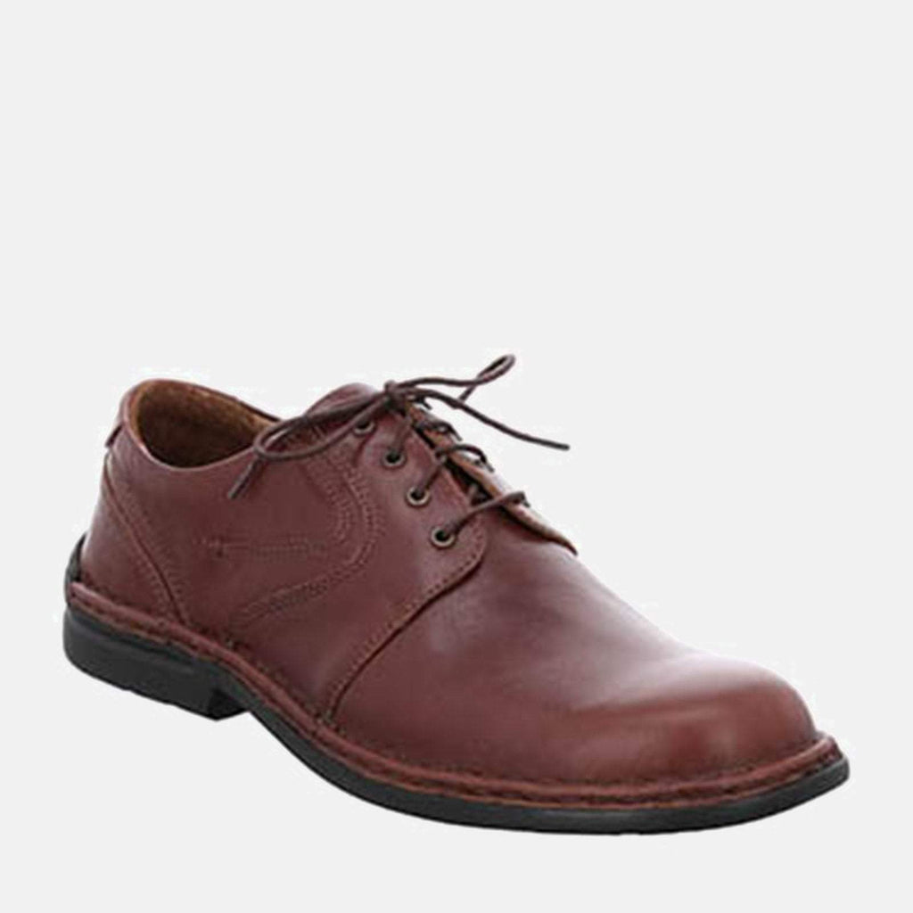 Josef Seibel Footwear UK 6 / EU 39 / US 7 / Tan Josef Seibel Walt Brandy - Brown Tan Leather Lace-Up Derby Shoes