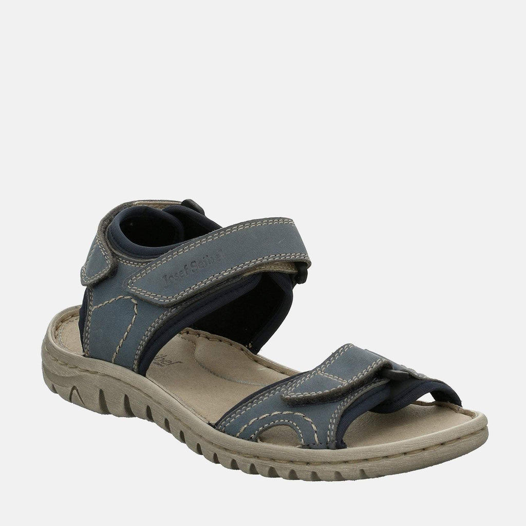 Josef Seibel Footwear UK 3 / EU 36 / US 5 / Navy Blue Lucia 15 Hellblau - Josef Seibel  Navy Blue Leather Velcro Walking Ladies Sandal