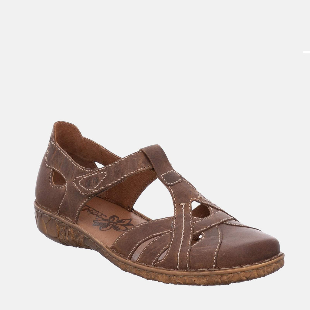 Josef Seibel Footwear UK 3 / EU 36 / US 5 / Tan Rosalie 29 Brandy - Josef Seibel  Brown Tan Leather Ladies Sandal