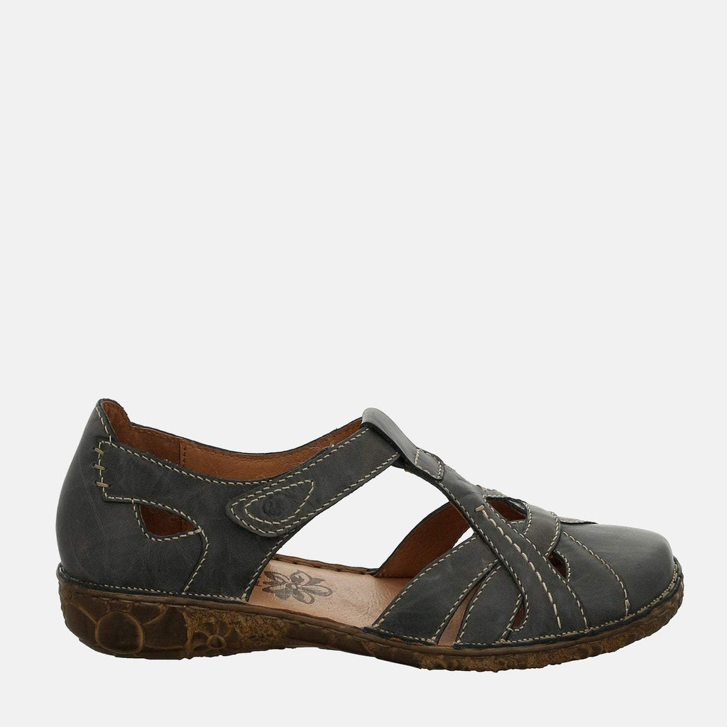 Josef Seibel Footwear UK 3 / EU 36 / US 5 / Navy Blue Rosalie 29 Jeans - Josef Seibel  Blue Leather Ladies Sandal