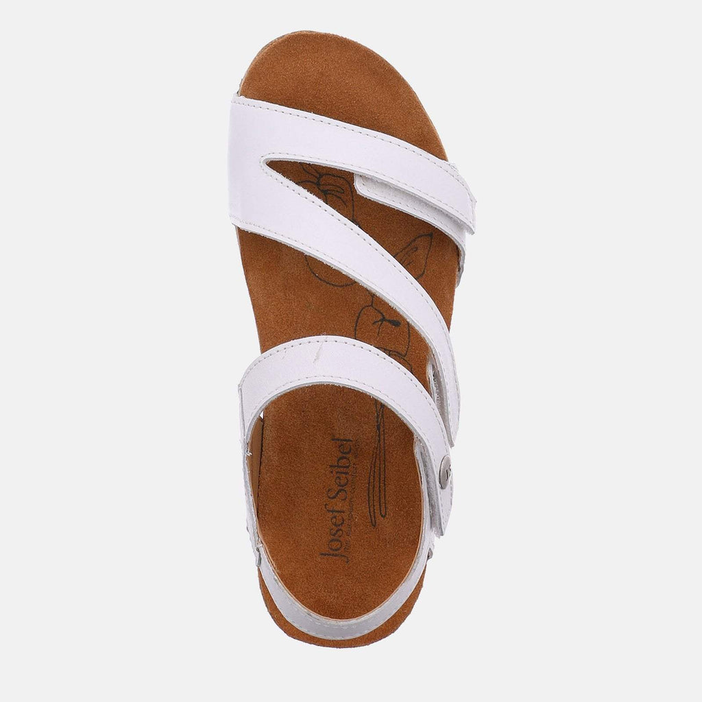 Josef Seibel Footwear UK 3 / EU 36 / US 5 / White Tonga 25 Weiss - Josef Seibel  White Leather Toe Post Ladies Sandal