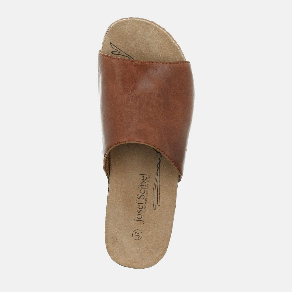 Josef Seibel Footwear UK 3 / EU 36 / US 5 / Tan Tonga 51 Camel - Josef Seibel Brown Tan Leather Slip-On Ladies Sandal
