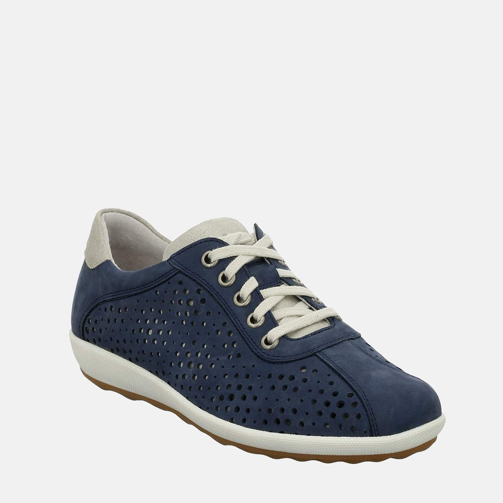 Josef Seibel Footwear UK 3 / EU 36 / US 5 / Navy Blue Viola 09 Blau Kombi - Josef Seibel Navy Blue Leather Sports Trainers