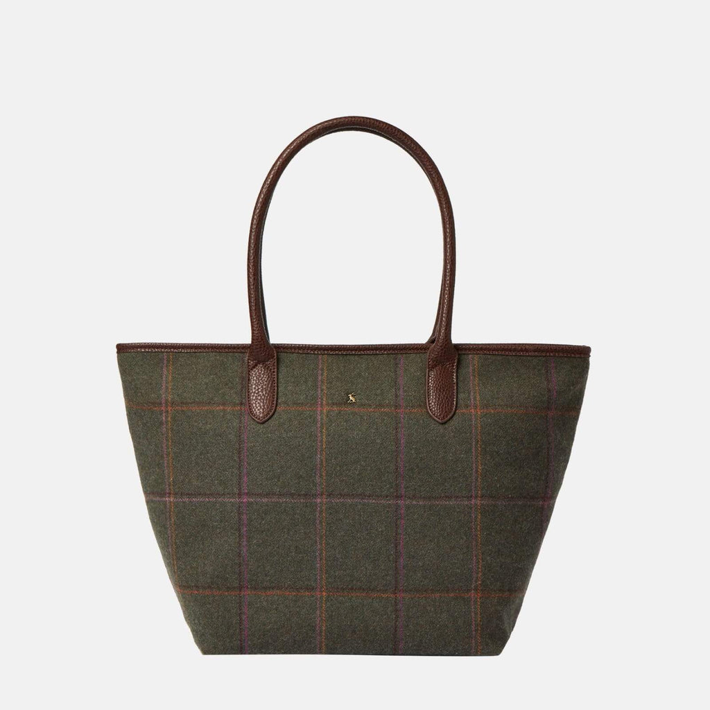 Joules Accessories One Size / Green Fernwell Tweed Dark Green Grid Tweed