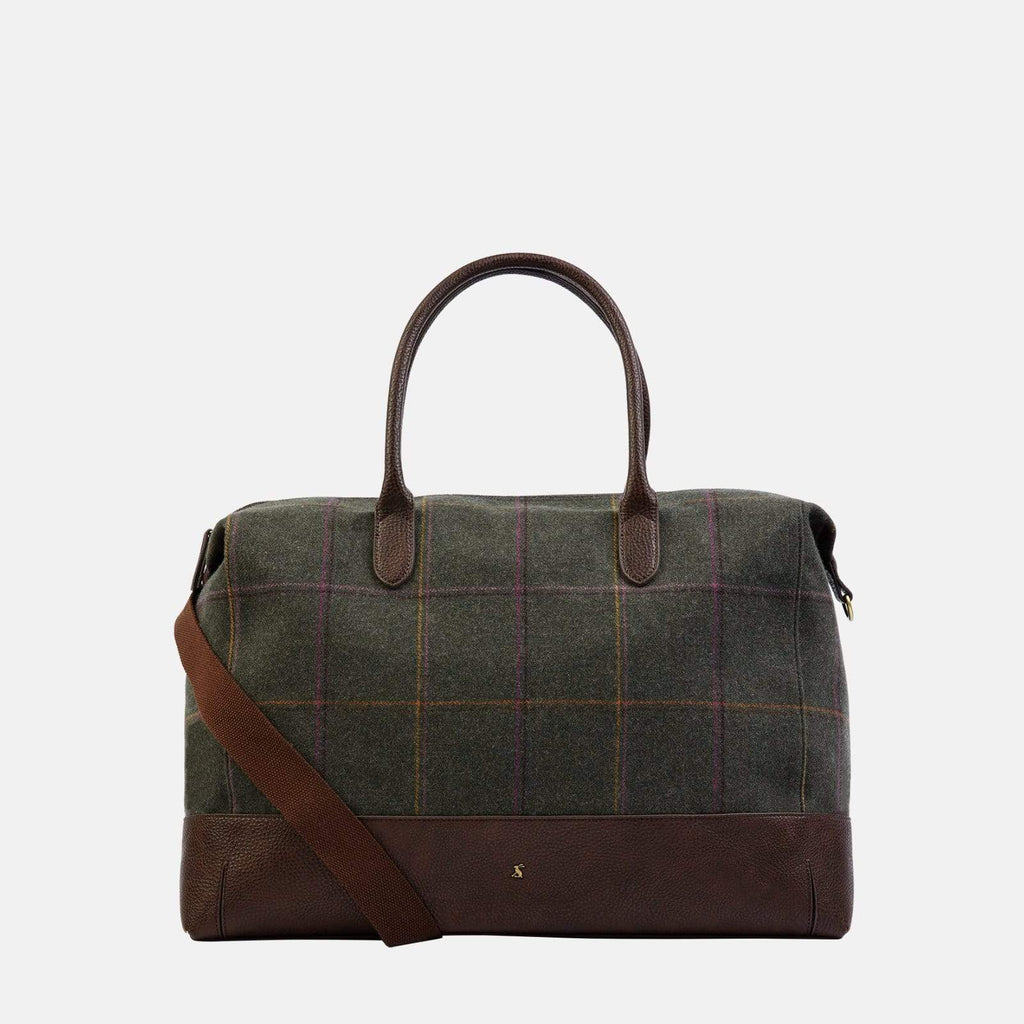 Joules Accessories One Size / Green Paddington Tweed Dark Green Grid Tweed