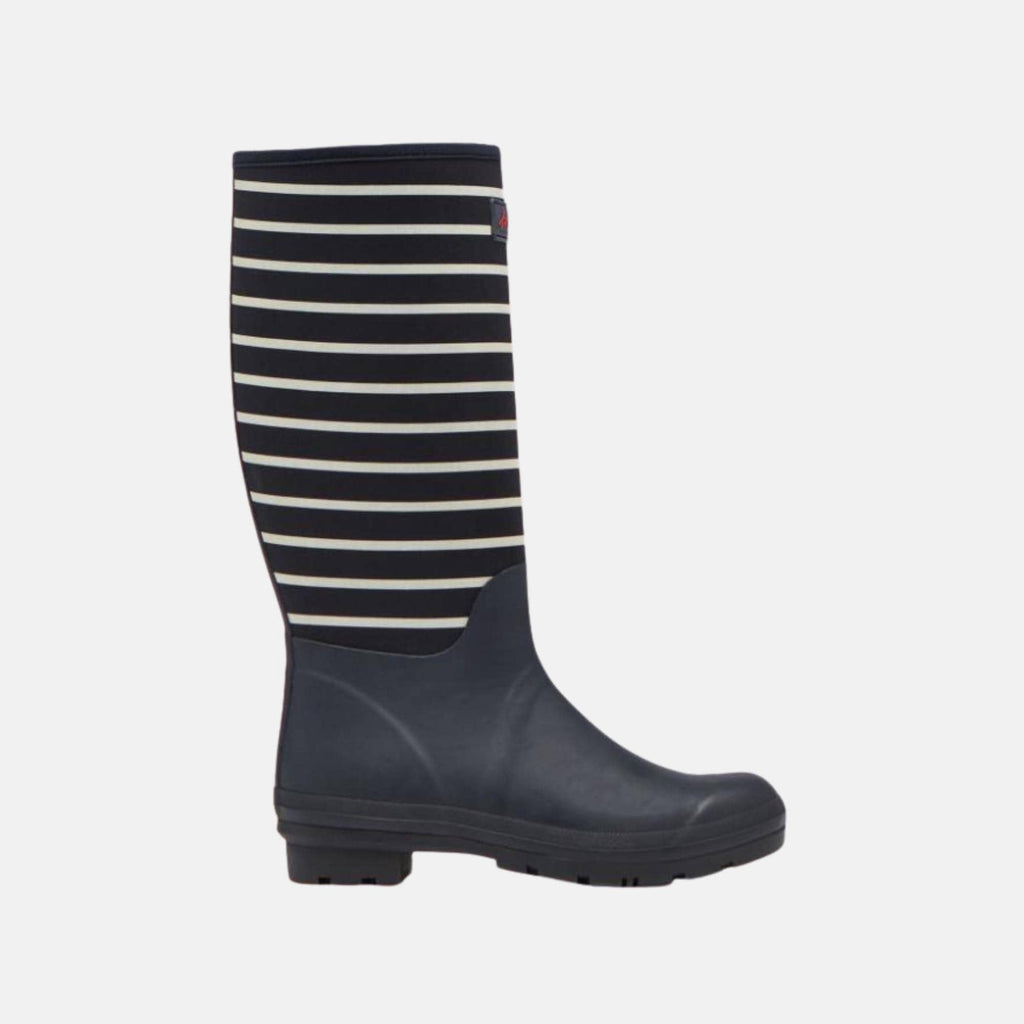 Joules Footwear 209662 Neoprene Welly Print Navy Cream Stripe