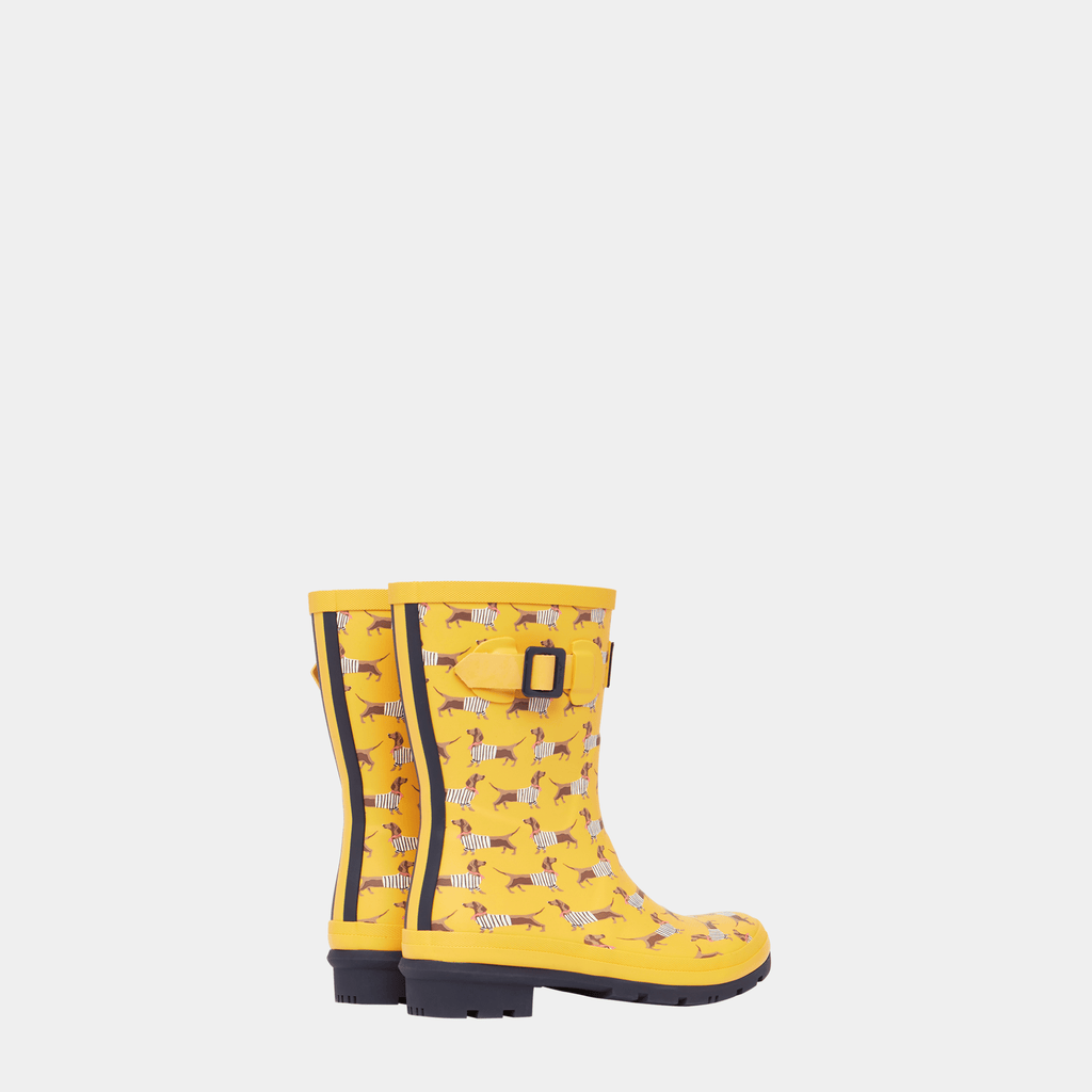 Joules Footwear 209675 Molly Welly Yellow Sausage Dog