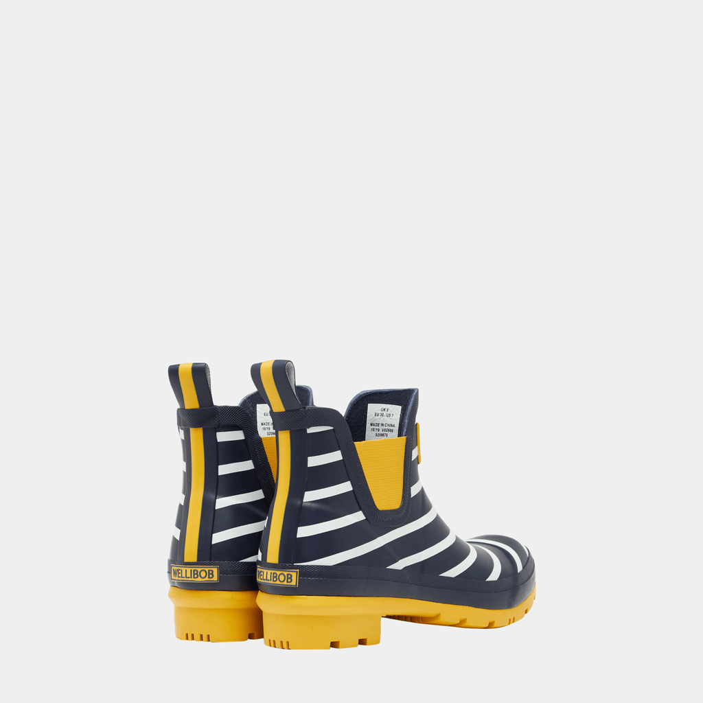 Joules Footwear 209676 Wellibob Navy Engineered Stripe