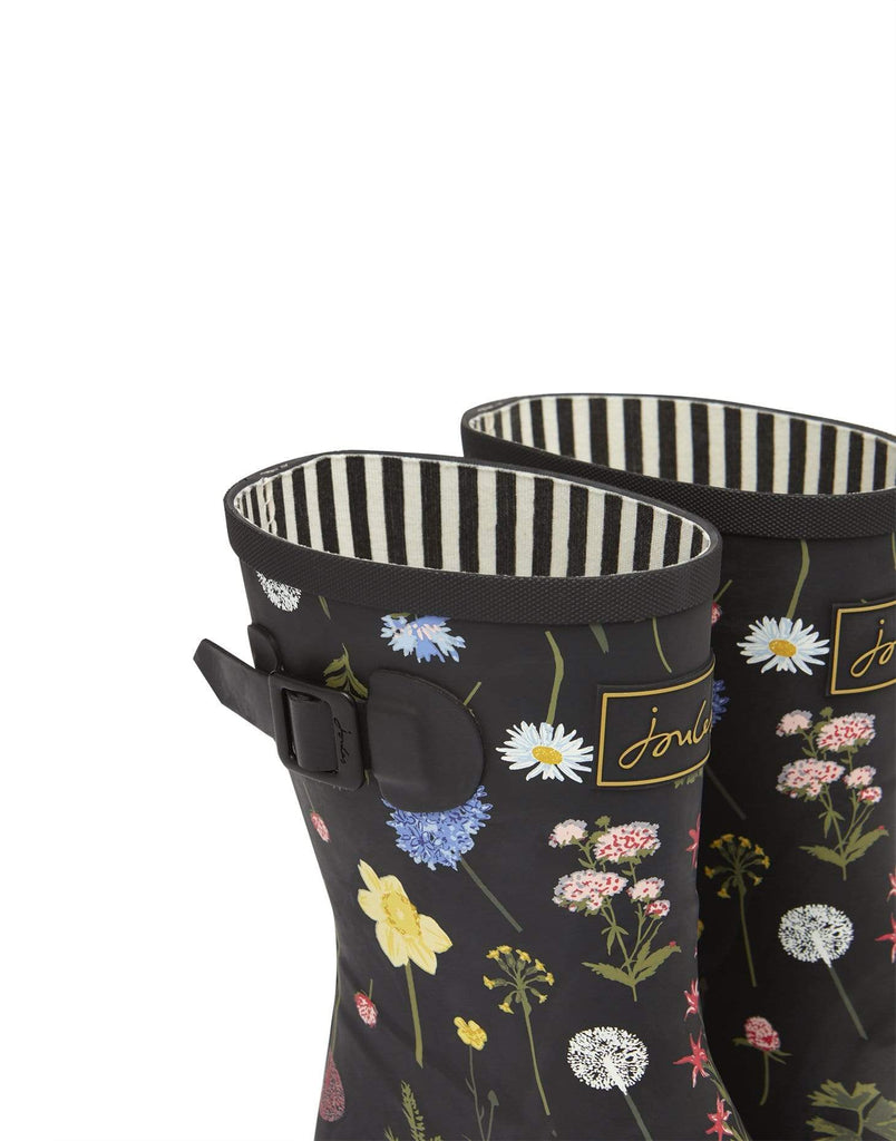 Joules Footwear Molly Welly Black Floral