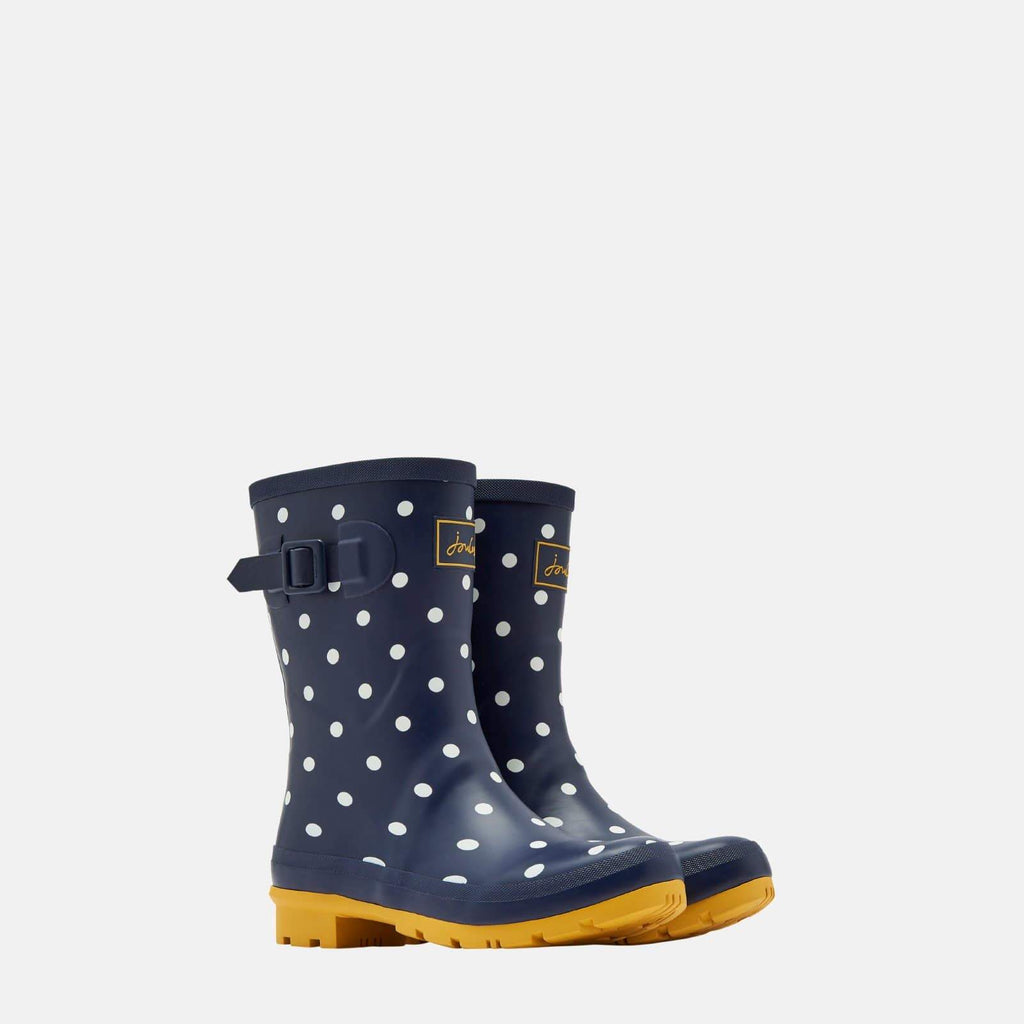 Joules Footwear Molly Welly French Navy Spot
