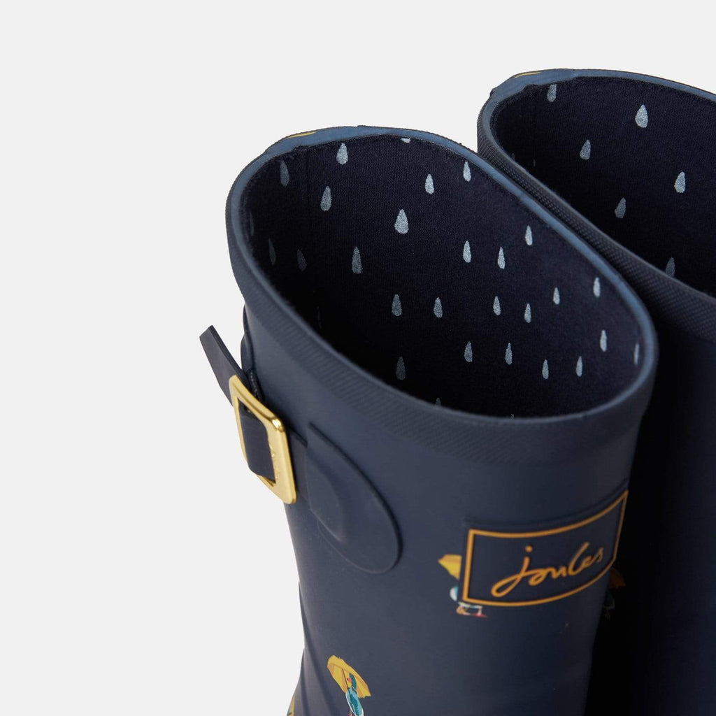 Joules Footwear Molly Welly Navy Ducks