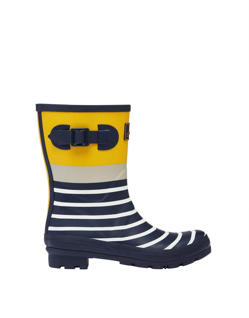 Joules Footwear Molly Welly Navy Engineered Stripe