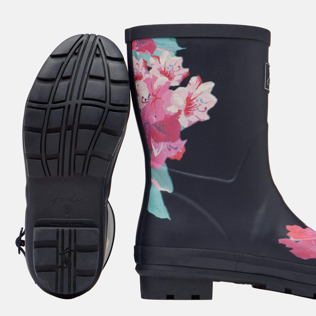 Joules Footwear Molly Welly Navy Floral