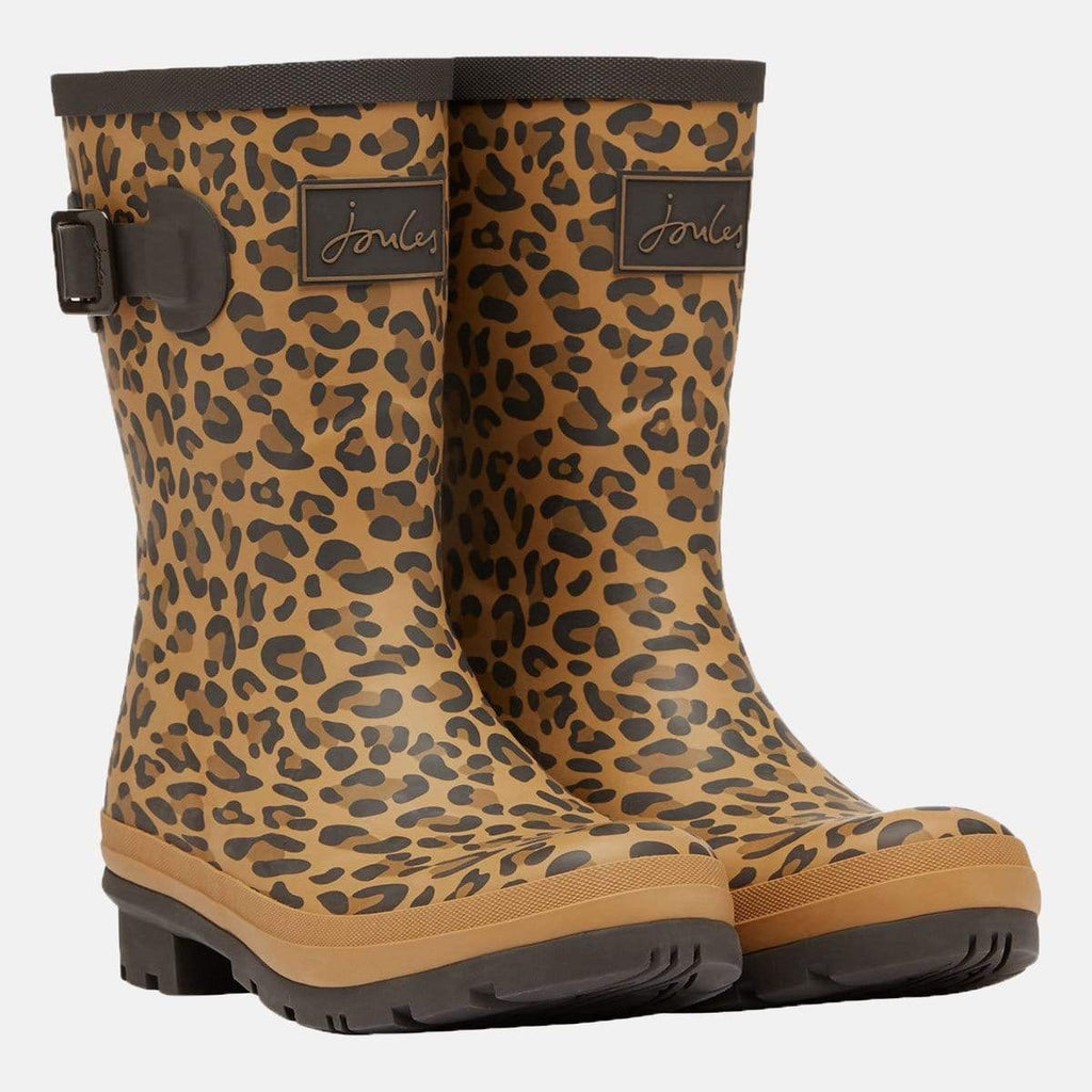 Joules Footwear Molly Welly Tan Leopard