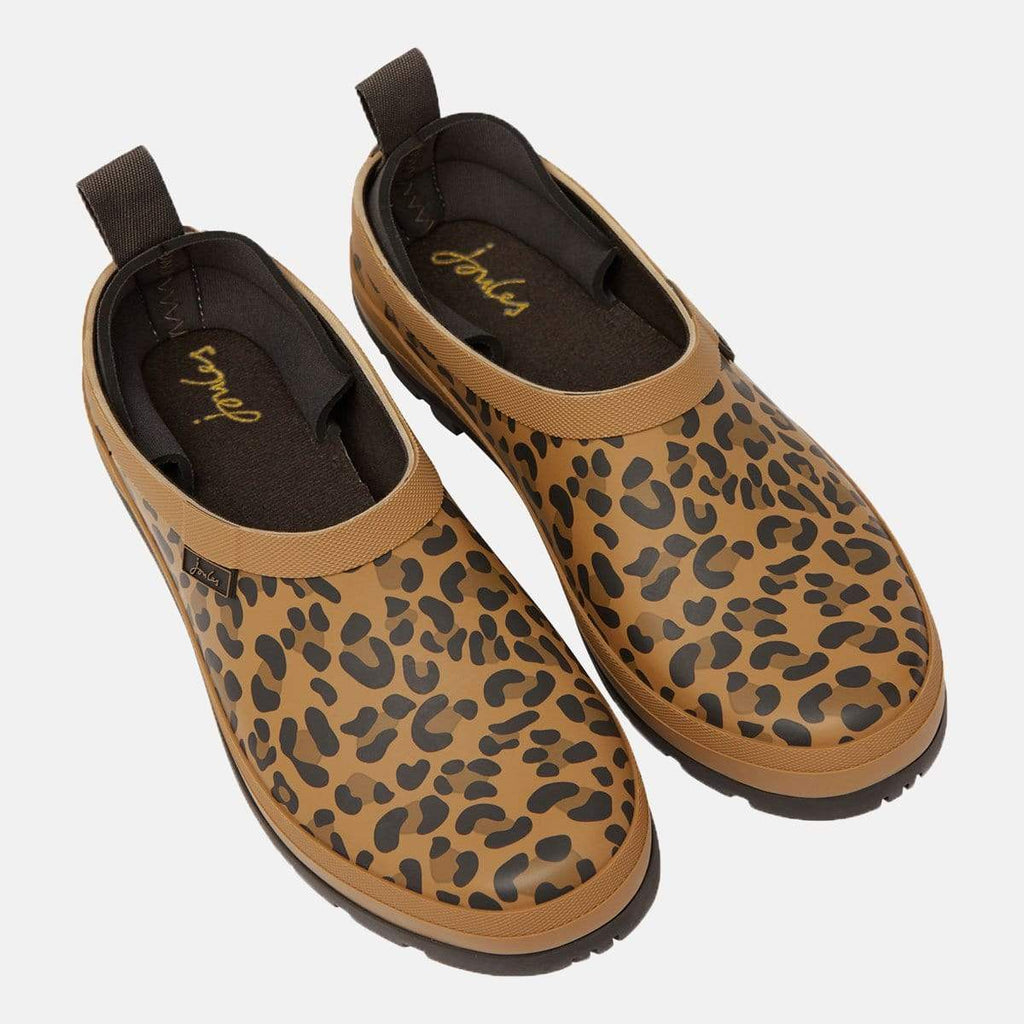 Joules Footwear Pop On Tan Leopard