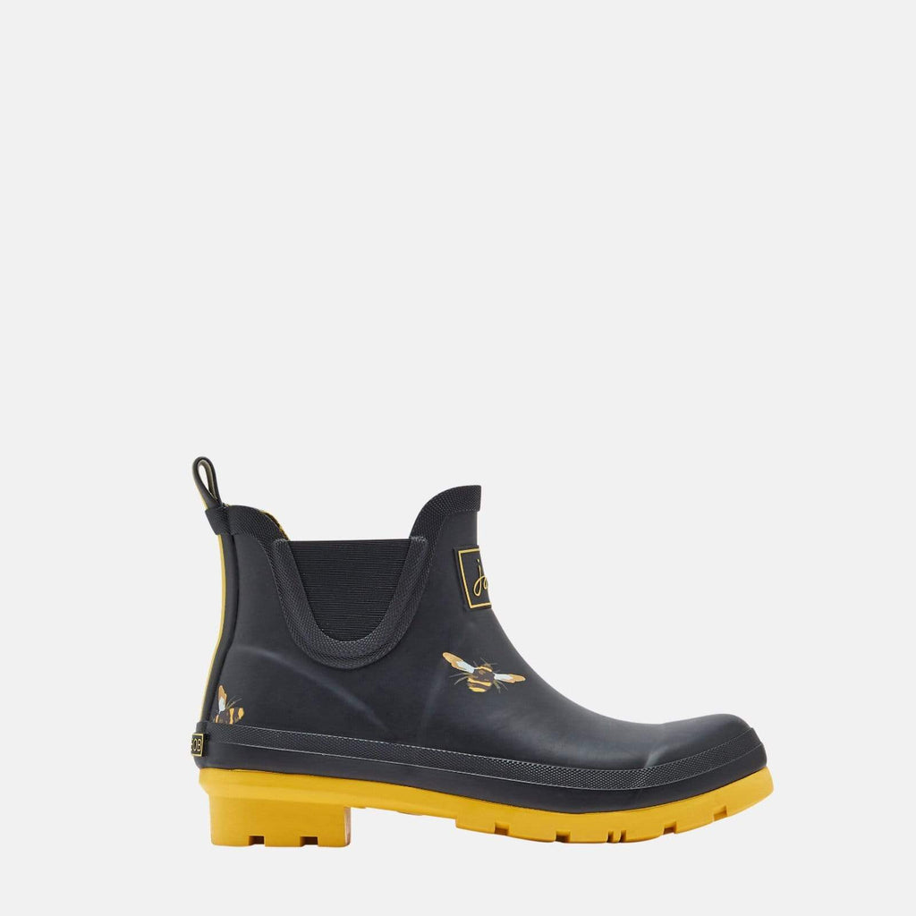 Joules Footwear Wellibob Black Metallic Bees