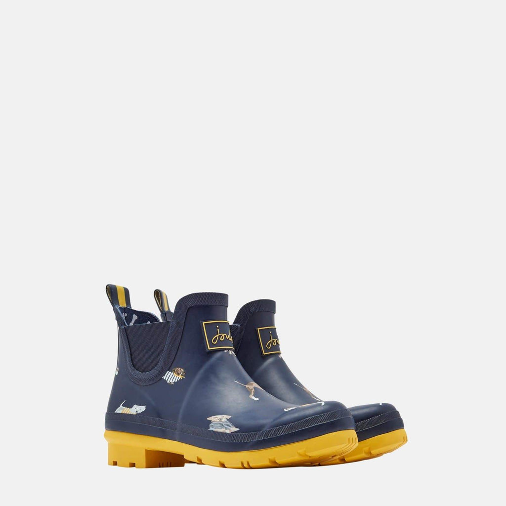 Joules Footwear Wellibob Navy Harbour Dogs