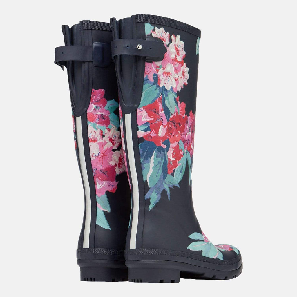 Joules Footwear Welly Print Navy Floral