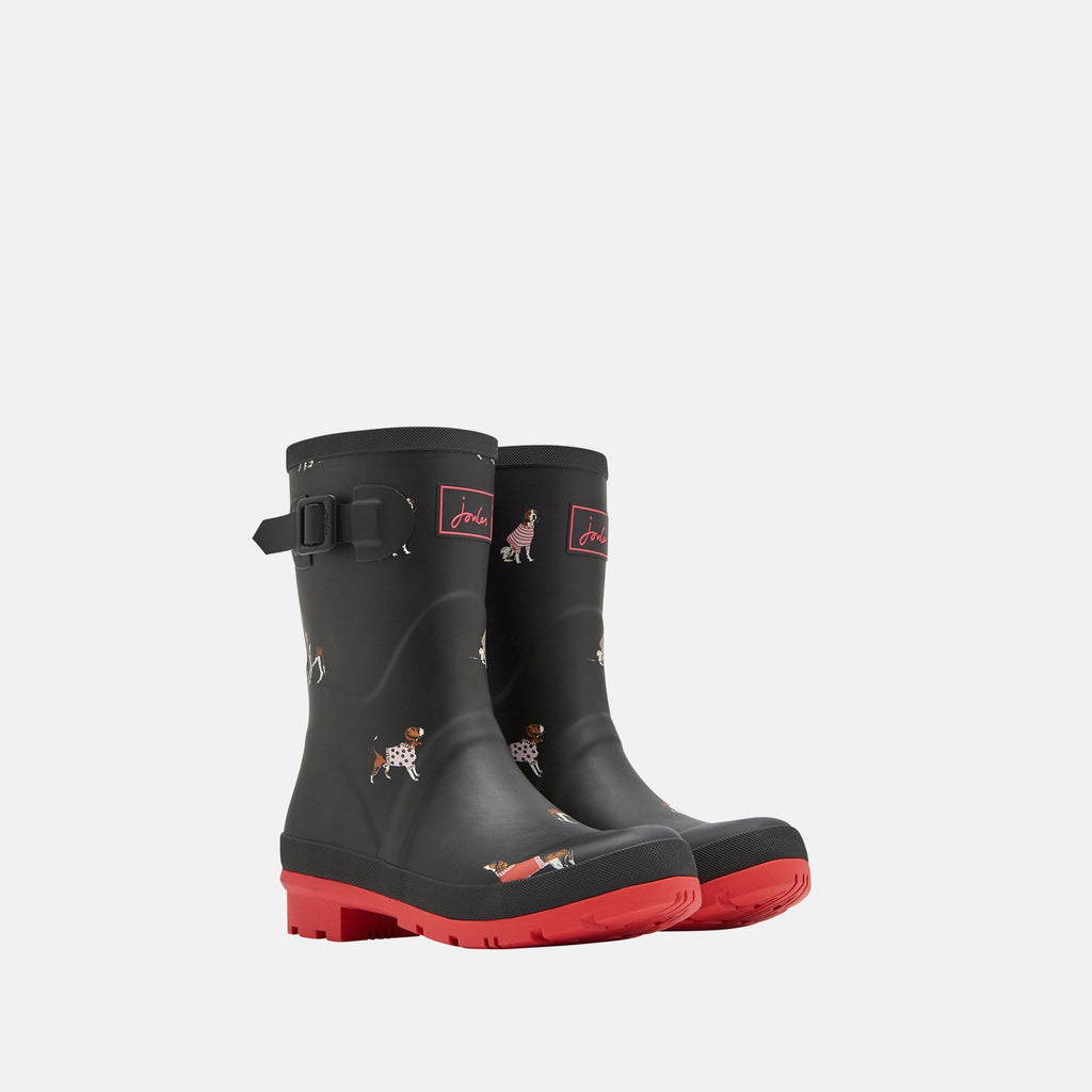 Joules Welly UK 3 / EU 36 / US 5 / Black Jumper Dogs Molly Welly Black Jumper Dogs