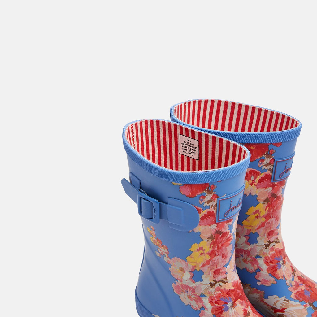 Joules Welly UK 4 / EU 37 / US 6 / Blue Floral Molly Welly Blue Floral