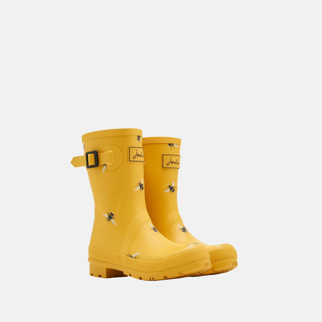 Joules Welly UK 3 / EU 36 / US 5 / Gold Botantical Bees Molly Welly Gold Botantical Bees