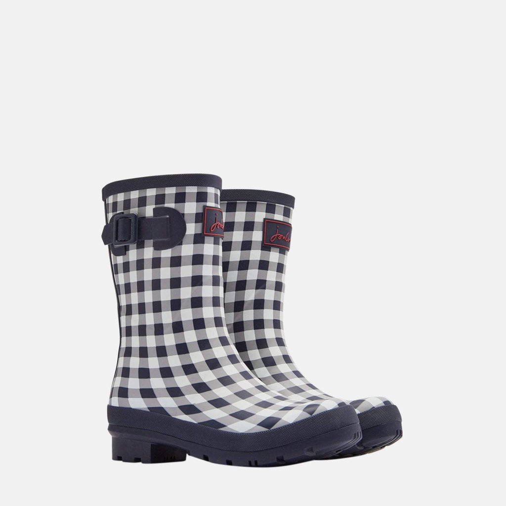 Joules Welly UK 3 / EU 36 / US 5 / Rose Gingham Molly Welly Navy Rose Gingham