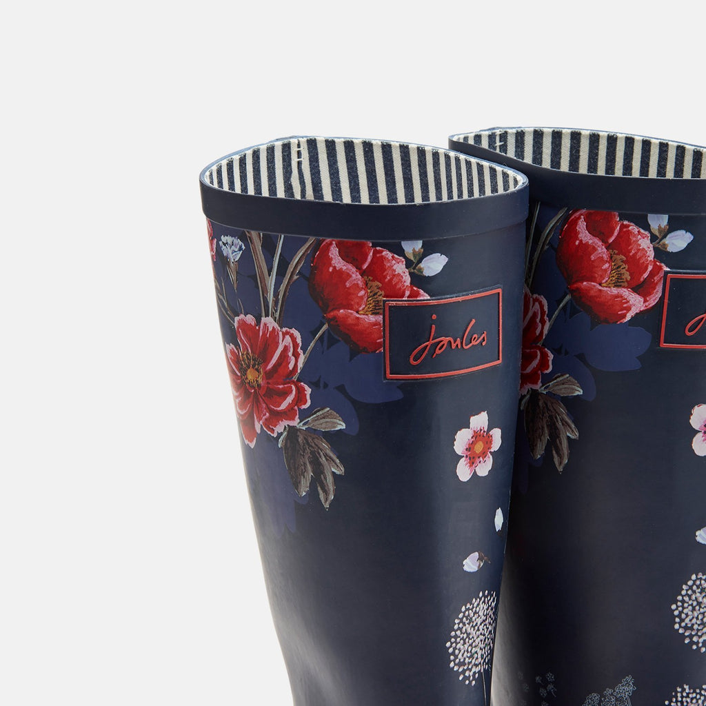 Joules Welly UK 3 / EU 36 / US 5 / Navy Floral Roll Up Welly Navy Floral