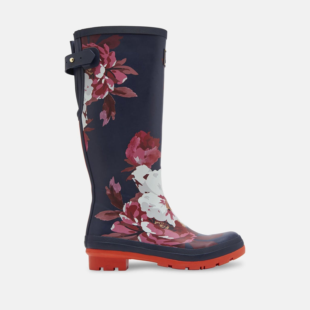 Joules Welly UK 3 / EU 36 / US 5 / Navy Welly Print French Navy Bircham Bloom