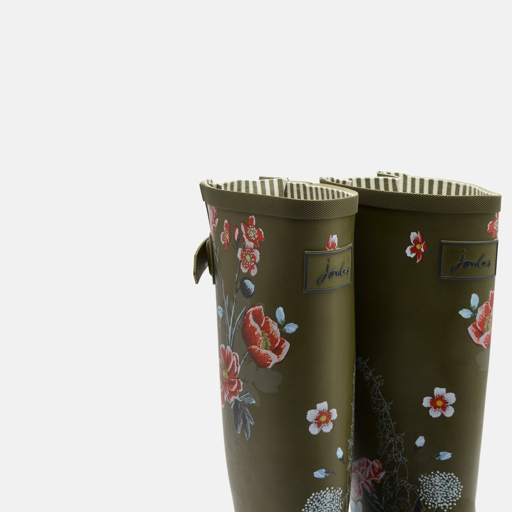 Joules Welly UK 3 / EU 36 / US 5 / Green Floral Welly Print Green Floral