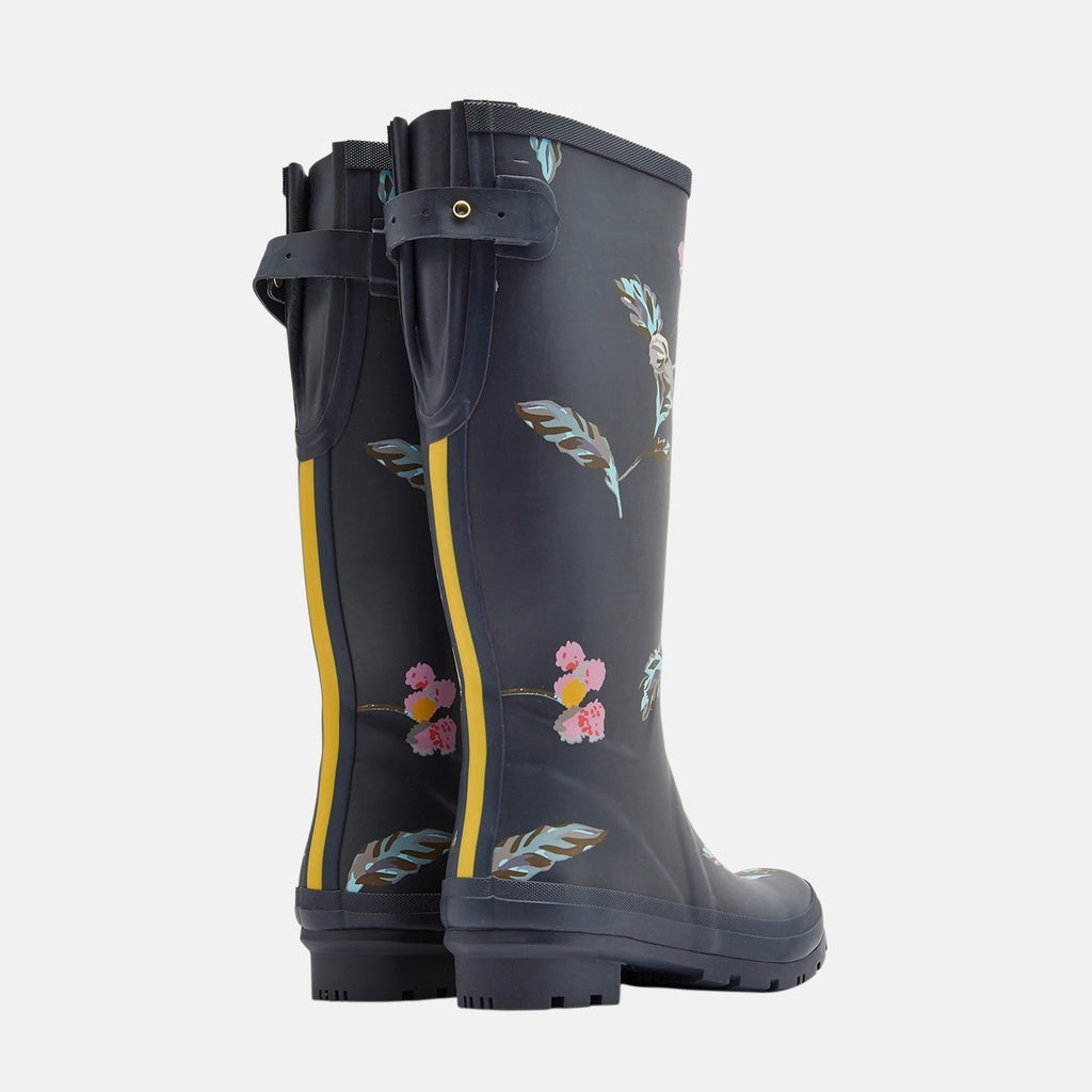Joules Welly UK 3 / EU 36 / US 5 / Grey Welly Print Grey Swanton Floral