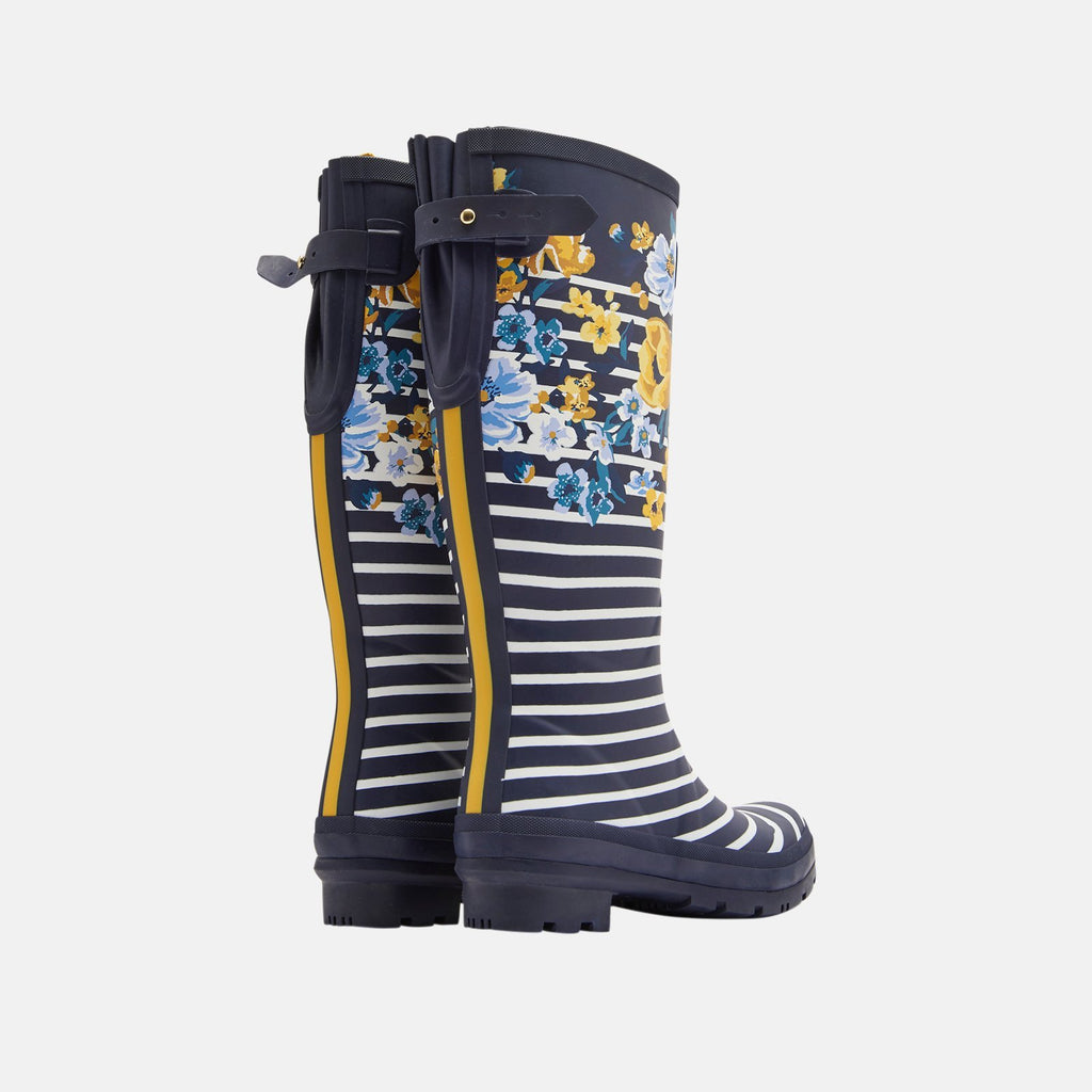 Joules Welly UK 3 / EU 36 / US 5 / Navy Botantical Welly Print Navy Botantical